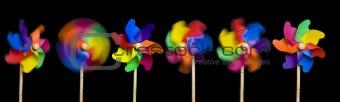 six pinwheels
