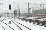 Munich Train Station in the Snow