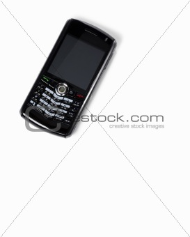 Isolated  mobile phone on white background