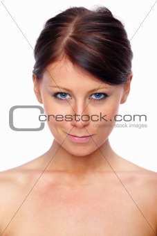 Beauty - Cheeky woman looking down