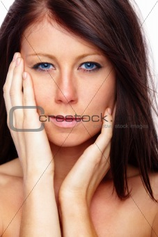 Beauty - Woman touching her face