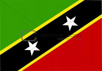 Flag of Saint Kitts and Nevis St.