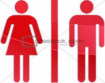 Toilet symbol illustration