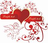 Heart with the cupid