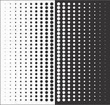 black white abstract circles