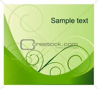 abstract flowers on a green background