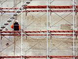 Worker on Scaffold