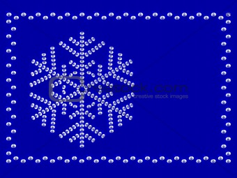 Frame with snowflake