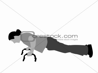 fitnessman doing push-ups