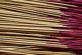 Asian prayer joss sticks closeup