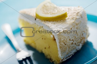 slice of lemon pie