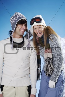 on ski vacation