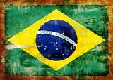 Brazil old painted flag
