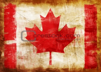 Canada old painted flag