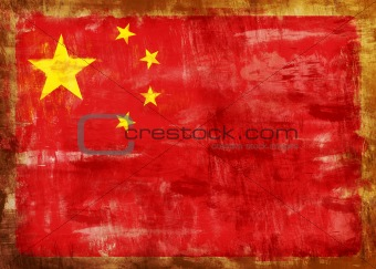 Cina old painted flag