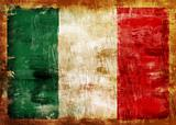 ITALY old painted flag