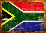 South Africa old painted flag