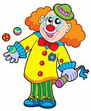Smiling cartoon clown
