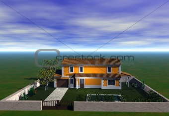 3D home illustration / home construction plan