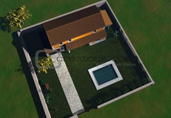 3D home illustration / home construction plan