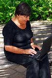 Mature woman computer