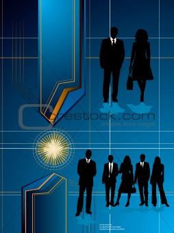 business future blue