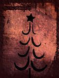 Grunge style christmas background