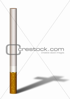 Cigarette with a cross shadow
