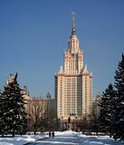 Lomonosov Moscow State University (front, winter)