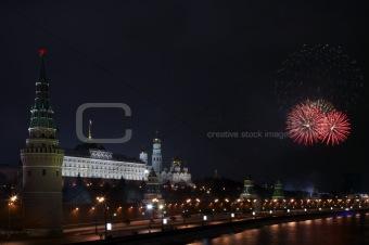 Firework near the Kremlin #1