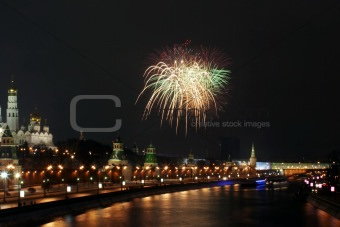 Firework near the Kremlin #3