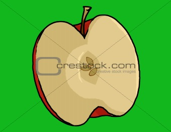 Apple half Illustration