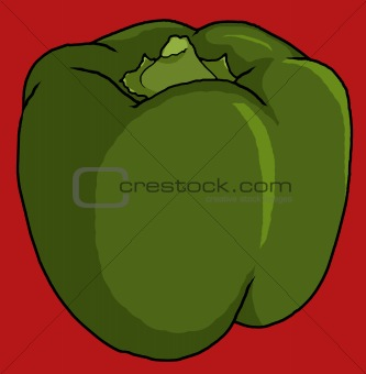 green bell pepper illustration