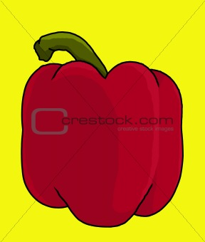 red bell pepper illustration