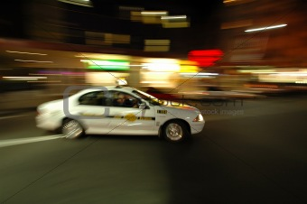 cab in motion