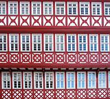 Facade of a Half Timbered House
