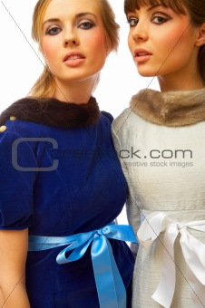 Fashion portrait of two models