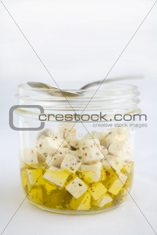 Feta in olive oil