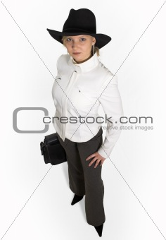 Attractive young lady with briefcase