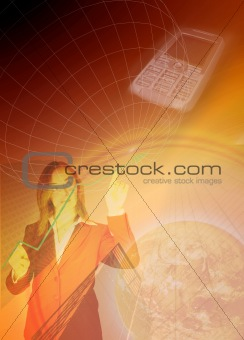 business communications background