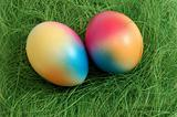 Two Colorful Easter Eggs