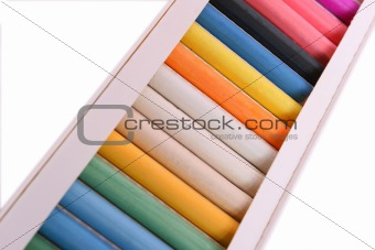 Box with pastel