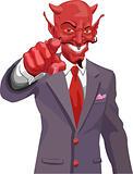 Devil pointing