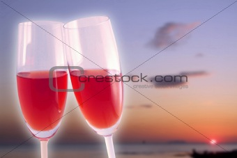 Celebration in the sunset