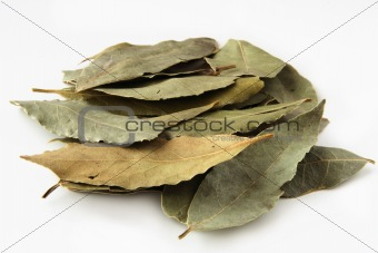 bay leaves in pale
