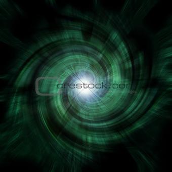 green tunnel vortex