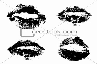 4 sets of lips