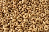 honey rings cereals background