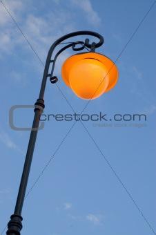 City lanterns at dusk