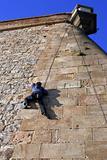 stone wall climber
